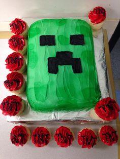 Minecraft cake ;)
