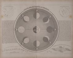 Phases and Movements of the Moon (1846), by John Crane Dower (1820 - 1847)