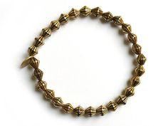 Metalized Plastic Beads Strech Elastic Bracelet