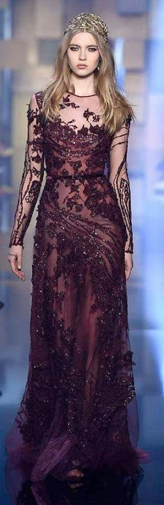 Some of the most eye-catching selections from Elie Saab at Haute Couture Week Elie Saab Couture, Couture Week, Couture 2015, Beautiful Gowns, Beautiful Outfits, Gorgeous Dress, Couture Fashion, Runway Fashion, High Fashion