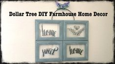 Hi everyone, here's a cheap and easy Dollar Tree DIY Farmhouse Style Decor for Spring that's good all-year round! Diy Home Decor Easy, Inexpensive Home Decor, Unique Home Decor, Cheap Home Decor, Home Decoration, Dollar Tree Frames, Dollar Tree Decor, Tree Crafts, Decor Crafts