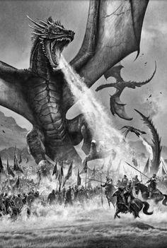 Edició il·lustrada de 'A Game of Thrones': Balerion, el Terror Negre