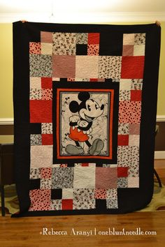 Disney Mickey Mouse Quilt This is exactly what I had in mind to make for his room!!