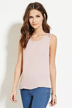 Lace-Paneled Top | Forever 21 - 2000180973