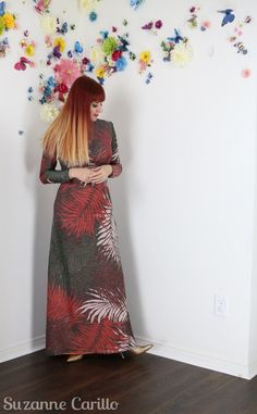 How to wear vintage clothing over Vintage style for women over Vintage lurex leaf maxi dress suzanne carillo style. Vintage Outfits, Vintage Fashion, Vintage Clothing, Vintage Style, Vintage Skirt, Dress Skirt, Personal Style, The Past, Creative
