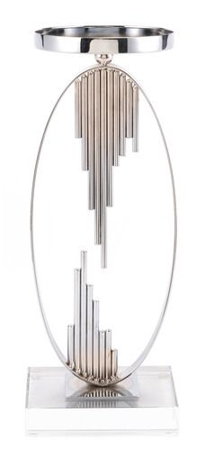 Zuo Modern Silver Candle Holder Silver