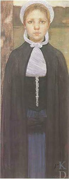 Hendrik Johannes Haverman Het weesmeisje, 1896 Den Haag, De Mesdag Collectie, inv./cat.nr. 140 #wezen