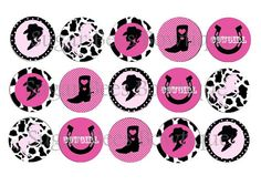 Cowgirl Bottle Cap Images