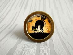 Black Cat - Drawer Knobs Pulls Handles / Antique Bronze  Kitchen Cabinet Knob Handle Pull / Antique Silver Dresser Drawer Knob Pull Hardware by Anglehome on Etsy
