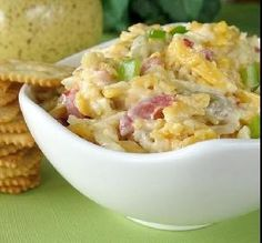 """Green Chile-Pimiento Cheese: """"Great pimiento cheese, and I consider myself a connoisseur of pimiento cheese. Seriously, it's very different from the norm with the chilies and pepper."""" -True Texas"""