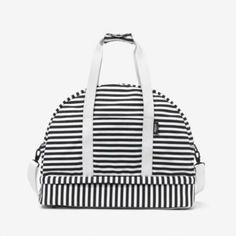 weekender bag stripe