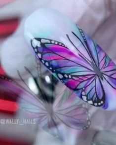 Simple Nail Art Videos, Nail Art Designs Videos, Nail Design Video, Simple Nail Art Designs, Nails Design, Nail Art Hacks, Nail Art Diy, Easy Nail Art, Butterfly Nail Art