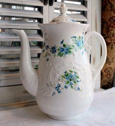 Vintage Coalport Fine Bone China Blue Roses by MySongsDesigns, $375.99
