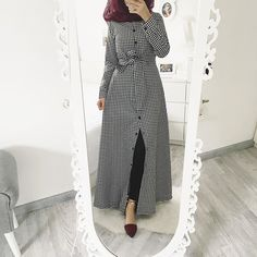 beauty begins the moment you decide to be yourself Dress / Kleid / Elbise Abaya Fashion, Modest Fashion, Fashion Dresses, Modest Dresses, Stylish Dresses, Casual Dresses, Hijab Style, Hijab Chic, Modele Hijab