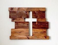 Rustic Sign Wood Sign Wood Cross Large Board by UnityWeddingBraids