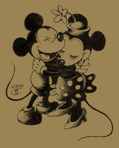 Mickey and Minnie by magur.deviantart.com