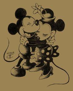 Mickey and Minnie by magur.deviantart.com