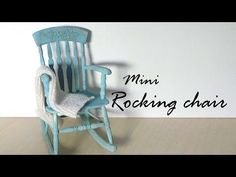 Miniature Furniture; Rocking Chair Tutorial - Dolls/Dollhouse - YouTube