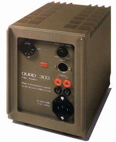 QUAD 303  1986 Radio Design, Small Speakers, Tape Recorder, High End Audio, Hifi Audio, Loudspeaker, Audio Equipment, Audiophile, Quad