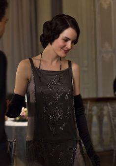 Downton Abbey black lace dress - Google Search
