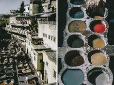 Fez w Maroku garbarnie i farbiarnie Chouwary Bali