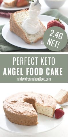 After many attempts at this classic recipe, I finally nailed it. It's light and airy, with the perfect angel food texture. It's also completely grain-free and dairy-free. recipe for angel food cake Keto Angel Food Cake Low Carb Sweets, Low Carb Desserts, Low Carb Recipes, Dairy Free Keto Recipes, Veal Recipes, Quick Recipes, Fish Recipes, Vegetable Recipes, Summer Recipes