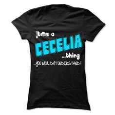 It is CECELIA Thing ... 999 Cool Name Shirt ! - #bridesmaid gift #hostess gift. LOWEST SHIPPING => https://www.sunfrog.com/LifeStyle/It-is-CECELIA-Thing-999-Cool-Name-Shirt-.html?68278
