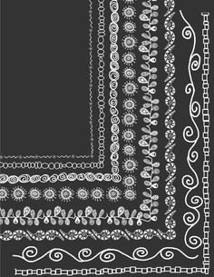 8 White Doodle Frames  8.5 x 11 Clip Art Set, Digital borders for teachers, scrapbooking, card making, wedding invitations. $3.50, via Etsy.