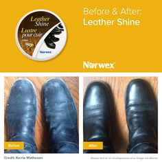 Leather Shine naturally cleans, restores and beautifies leather without man-made waxes or harmful chemicals. It replaces the natural oils in dry leather as it waterproofs, moisturizes and protects.