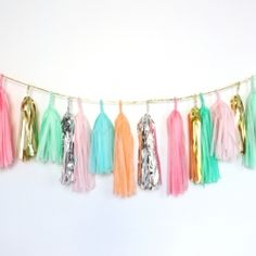 Tassel Garland-Multi color, by Confetti System Confetti System, Tassle Garland, Party Garland, Diy Tassel, Garland Ideas, Fabric Garland, Bridal Musings, The Design Files, My New Room