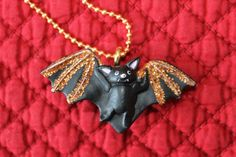 REDUCED by 10%   The Bat with Bling. $7.19, via Etsy.