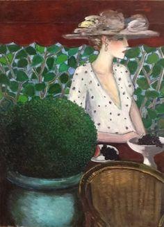 Tableaux sur toile, reproduction de Cassigneul, Plante verte et raisins