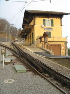 Leysin, Switzerland  Cog station Oh, how I miss sitting at this station waiting for the train to take me on a CH adventure or back home to Au Bel Air!