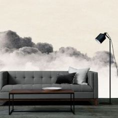 Imagine souring cumulus clouds in vast inky skies, dreamy clouds and sublime ocean vistas. By Jody D'Arcy. Cloud Wallpaper, Wallpaper Decor, Ann Louise, Scandinavian Wallpaper, Uber, Creative Director, Collaboration, Love Seat, Filter