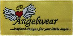 Cute Angel Wear label font via @IMargolius