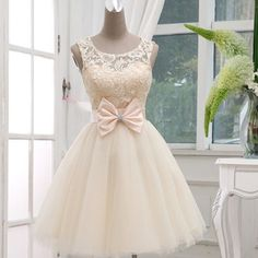 Find More Bridesmaid Dresses Information about Free shipping cheap Short Bridesmaid Dresses under 50 Knee Length tull Satin Lace A line white red champagne Bridesmaid Gown,High Quality gown sample,China gown prom dress Suppliers, Cheap dresses topshop from Sunflower Bridal on Aliexpress.com