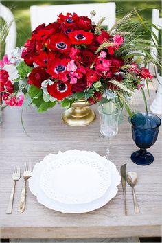 Red, white, and blue wedding or BBQ ideas galore. #weddingchicks Captured By: Kaysha Weiner Photography http://www.weddingchicks.com/2014/06/24/red-white-and-blue-wedding-ideas/