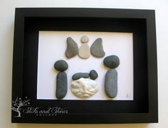 Modern New Baby Gift  Personalized New Baby Gifts by SticksnStone, $85.00