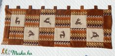 Vadász falvédő (ednatextilmuhely) - Meska.hu Deer Decor, Quilts, Blanket, Quilt Sets, Blankets, Log Cabin Quilts, Cover, Comforters, Quilting