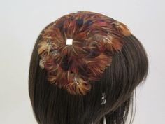 Vintage Feather Bandeau Hat Autumn Fall by ThePassionateFlea