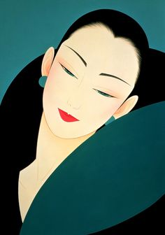 Ichiro Tsuruta 鶴田一郎, 1954 | Japanese beauty in Art Déco style | Tutt'Art@