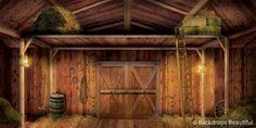 Backdrops: Barn 6 Interior Indoor Mural  WOW !!!  LOVE IT