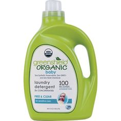 GreenShield Organic Baby Laundry Detergent, Free & Clear, 100 oz
