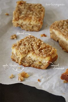Hearts in My Oven: Caramel Cheesecake Apple Blondies
