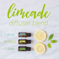 Nothing beats this Limeade Diffuser Blend for the perfect summer aroma. Basil, Lime, and Spearmint essential oil are a trio made in heaven.