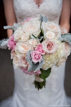 pink blush roses hydrangea- PERF