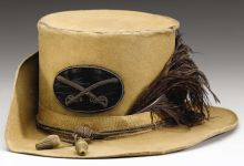 Confederate Virginia Cavalry Officer's Hardee Style Hat with Original Insignia and Plume