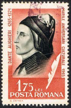 Dante Alighieri, comemmorative stamp, Rome