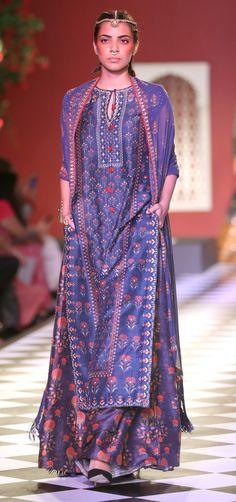 indigo blue wedding lengha | Anita Dogre | Indian bride's fashion