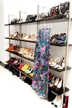 Best shoe shelves ever! Like having a shoe store in your own house.